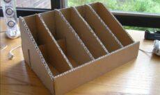 подставка для книг из картона